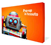 Display Pop up Lineare in Tessuto