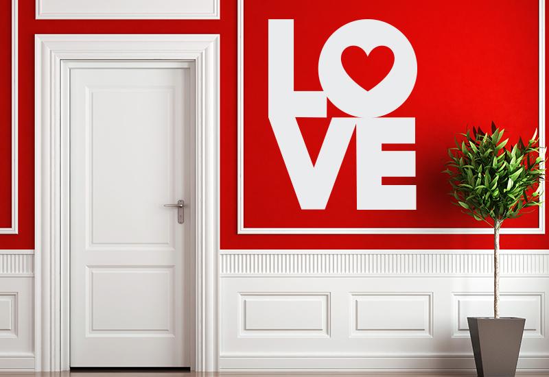 Love love love adesivo per muri vetrate specchi for Stickers per muri